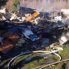 Zwei Wochenendhäuser brennen nieder