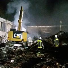 Baumarkt brennt bis auf die Grundmauern nieder