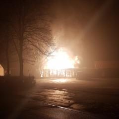 Feuer zerstört Kleingartengebäude